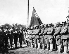 Chinese troops from India and Southern China link up following the success of the Salween Offensive against Japanese forces. Muse, Burma (now Myanmar). 27th of January 1945.