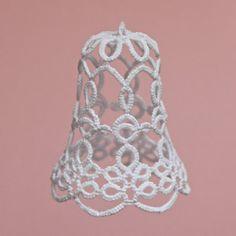 Krajkový+zvonek+zvonek+vytvořený+z+frivolitkové+krajky+velikost+5cm+cena+za+jeden+kus