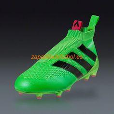 Venta caliente Botas De futbol Adidas Ace 16+ Purecontrol FG/AG Solar Verde Rosa Choque Negro