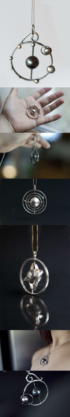 Awesome solar system pendant