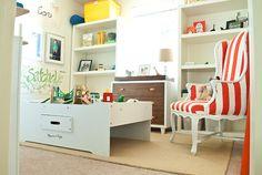 boy room - that striped chair is tdf