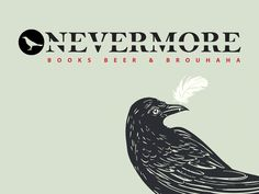 Nevermore Books, Beer & Brouhaha logo design by a Primoprint In-house Designer!