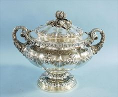 English sterling silver covered centrepiece by E. Barnard
