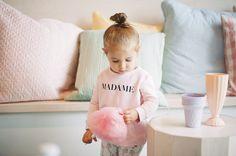 MADAME sweatshirt + flamingo leggings: little CITIZENS Cotton Candy: Petite Puf