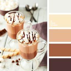 бежевый, бежевый и серый, белый, контрастное сочетание теплых и холодных тонов, кремовый бежевый, монохромная коричневая палитра, оттенки коричневого, оттенки серого, палитры для дизайнеров, рыже-коричневый цвет, серый, цвет капучино, цвет