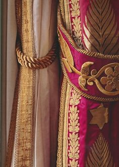 """Magnificent fabrics in Napoleon's bedroom at Château de Compiègne - from the book """"Empire Splendor: French Taste in the Age of Napoleon"""" by Bernard Chevallier (author), and Marc Walter (Photographer) (via thepeakofchic)"""
