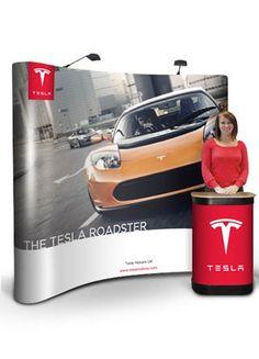 3x3 Pop-Up Frame System Pop Up Frame, Tesla Roadster, Exhibition Display, Expo Stand