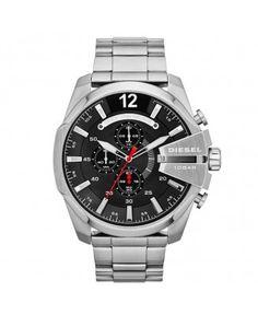 Diesel DZ4308 horloge Mega Chief voor heren Zwart wijzerplaat