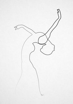 Art pint by Quibe, one line drawing Minimalist Drawing, Minimalist Art, Inspiration Art, Art Inspo, Art Sketches, Art Drawings, Art Du Croquis, Illustration Art, Illustrations