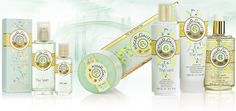 Collection Green Tea : Eau Fraiche, Round Soaps, Perfumed Liquid Soaps, Shower Products, 3 soap coffrets, Body lotion - Roger