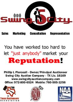 Swing City Auction Company Ad