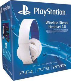 Беспроводная гарнитура для PS4 (белая, с поддержкой PS3 и PS Vita)  — 5490 руб. —  Наслаждайтесь насыщенным динамичным звуком дома, используя беспроводную гарнитуру для PS4 или PS3, или в дороге, подключив гарнитуру к PlayStation Vita или другому мобильному устройству.