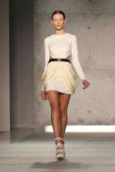 This Sally LaPointe 's dress from her s/s 2013 collection to me is is like a 2 in 1  The top reminds me of winter (or at least fall) but the lower part it sreams Summer ;)