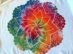 Rainbow+Tiedye+Star+Doily+by+tabachin+on+Etsy