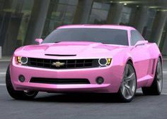 Pink Chevy Camaro. Yeah, I'd drive it.