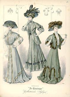 [De Gracieuse] Visite- en wandeltoiletten (August 1907)