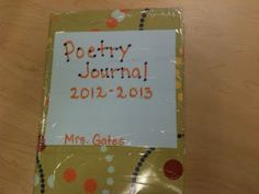 Poetry Journal... this blog has great ideas!!