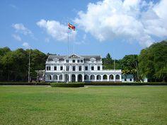 Het presidentieel paleis.