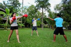 Invoke your fighter spirit with Centara Koh Chang Tropicana Resort's boxing class! Yaaaa! www.centarahotelsresorts.com/centara/ckc/ #CentaraKohChang #Centara #KohChang #Thailand #Trat #Resort #Island #Boxing #fighting #Fighter #Activity #Sport #Facilities #Exercise #Vacation #Holiday #Fitness
