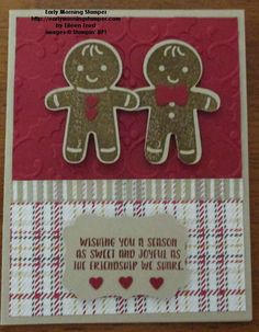Cookie-Cutter Christmas new Stamp Set and Punch from Stampin' UP! that will be available on Sept 1st