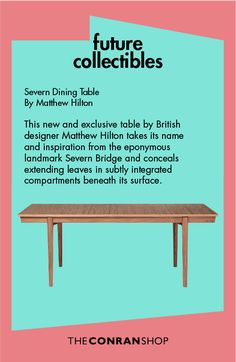 Buy the Severn Extending Dining Table Walnut by Matthew Hilton and more online today at The Conran Shop, the home of classic and contemporary design