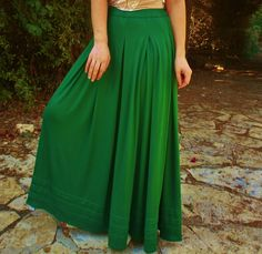 Day and Night grass green cotton viscosa skirt grass green long skirt maxi skirt gypsy skirt green skirt.