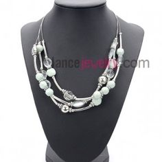 Pure suit of necklace with ccb beads and acrylic beads in different shapes