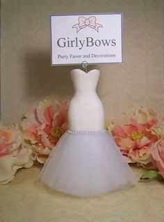 Place Card holder bridal shower wedding place by FavorsByGirlybows