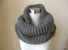 The Grey Super Chunky Knit Cowl