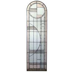 Meyda 22868 - X Arc Deco Left Sided Stained Glass Window Modern Stained Glass Panels, Stained Glass Patterns, Stained Glass Art, Stained Glass Windows, Art Nouveau, Estilo Art Deco, Glass Wall Art, Glass Door, Glass Material