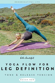 This Boho Beautiful yoga class is a 20 minute flow for all levels. This class is everything you need to enhance your beautiful leg definition. Yoga Flow Sequence, Yoga Sequences, Yoga Poses, Yoga Videos, Workout Videos, Yoga For Legs, Different Types Of Yoga, Boho Beautiful, Yoga For Beginners