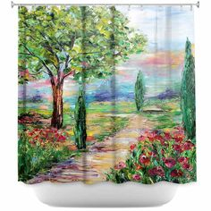 Unique Shower Curtains | Karen Tarlton Tuscany Radiance