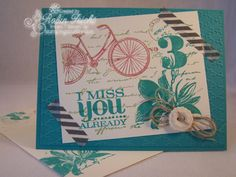 I Miss You Already by Robin Lee - Cards and Paper Crafts at Splitcoaststampers