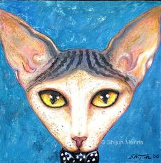 """Sphinx Cat"" oil, 2006 © Shijun Munns sold #OilPaintings #Catart  #painting Sphinx Cat, Sphynx, Cat Art, Cute Cats, Disney Characters, Fictional Characters, Art Gallery, Creatures, Kitty"