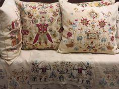Greek Textiles in the Benaki Museum, Athens Benaki Museum, Contemporary Decorative Art, Bed Pillows, Cushions, Naive Art, Islamic Art, Athens, Painting Inspiration, Flower Art
