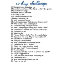 Heck Yeah Tumblr Challenges! ❤ liked on Polyvore featuring text, words, challenges, extras and random
