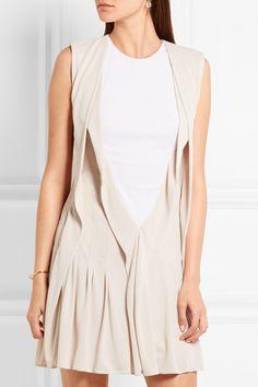 Atlein | Ribbed cotton jersey-paneled crepe mini dress | NET-A-PORTER.COM
