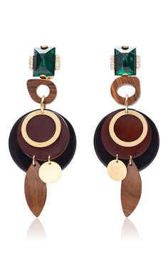 Wood Earrings by MARNI for Preorder on Moda Operandi