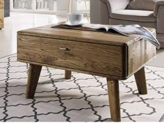 Luxusní dubový konferenční stolek DALLAS 66 je luxusní a velmi stylový stolek z masivu, která daruje Vašim interiérům punc dokonalosti. Nightstand, Dallas, Texas, Table, Furniture, Home Decor, Decoration Home, Room Decor, Night Stand