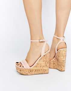 ASOS | ASOS TIME FLIES Two Part Wedges at ASOS