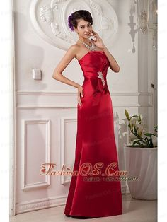de904f678 Buy new style strapless floor length homecoming evening dresses in taffeta  from wine red evening dresses collection