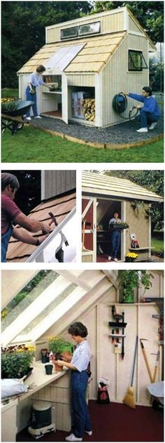 Trendy diy garden shed plans step by step ideas Garden Storage Shed, Storage Shed Plans, Diy Shed, Garden Sheds, Shed Construction, Construction Drawings, Diy Garden Projects, Outdoor Projects, Outdoor Landscaping