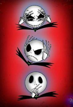 Jack Skellington See no evil, Hear no evil, Say no evil!