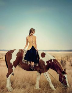 """Ondria Hardin in """"The Coming Of The Wind Talkers"""" byBoo GeorgeforVogue Japan,May 2014,"""