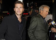 Like father like son: Scott pictured with his father at the premiere of J Edgar in 2011...