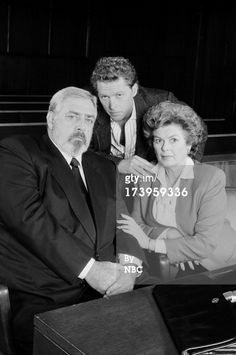 "Barbara Hale/Della Street with son William Katt and Raymond Burr/Perry Mason, ""Perry Mason Returns"""