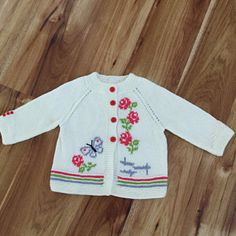 Knitting pattern baby cardigan with Baby Cardigan Knitting Pattern, Knitted Baby Cardigan, Baby Knitting Patterns, Baby Patterns, Hand Knitting, Kids Knitting, Summer Cardigan, Pattern Baby, Top Pattern