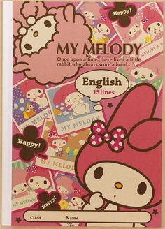 pink My Melody rabbit notebook exercise book photo sheep