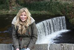BBC Countryfile's Ellie Harrison by the village waterfall http://www.webury.com/store/Aigle_Blodwen_Parka_Coat.html