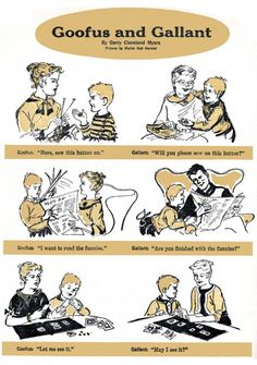 Goofus and Gallant from Highlights magazine